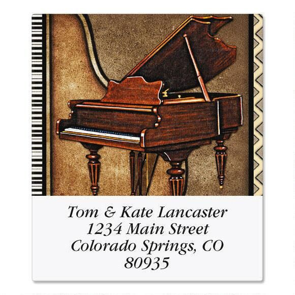 Music  Select Address Labels  (6 Designs)