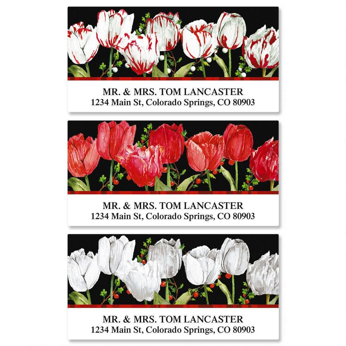 Tulip Time Deluxe Return Address Labels  (3 Designs)