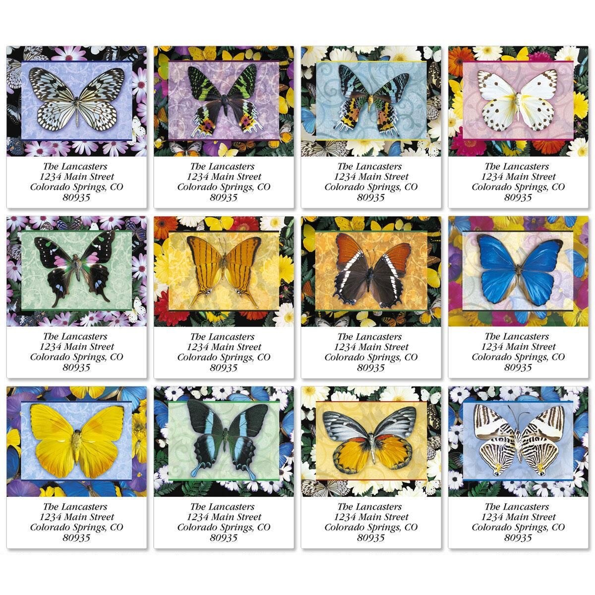 Butterflies All Year Round Select Return Address Labels  (12 Designs)
