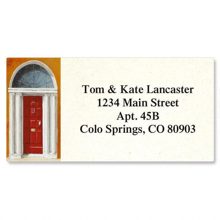 Enter  Border Return Address Labels  (6 Designs)