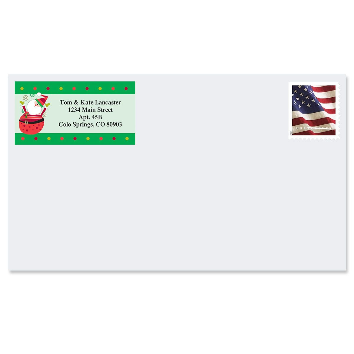 Fun Christmas Border Return Address Labels  (4 Designs)