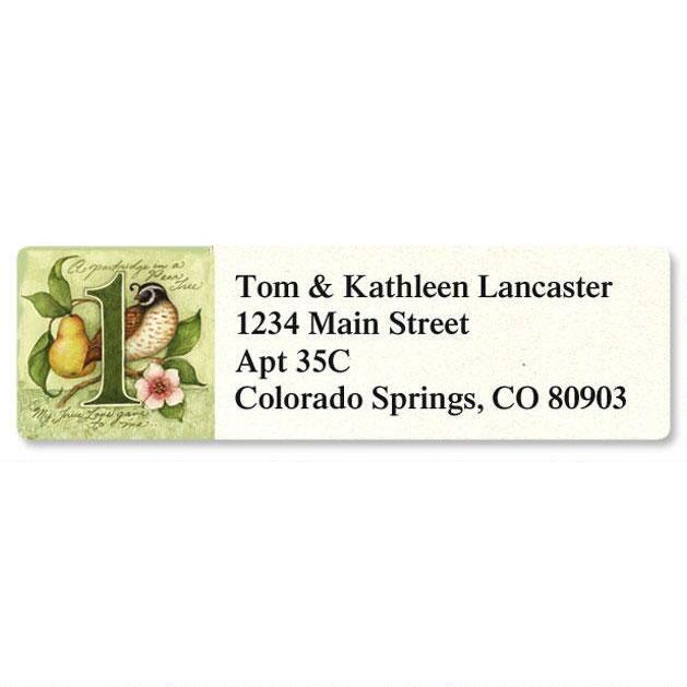 12 Days Classic Address Labels  (12 Designs)