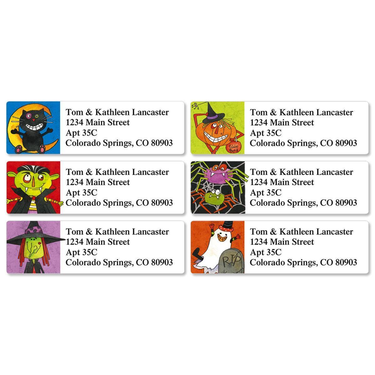 Fun Halloween Classic Return Address Labels  (6 Designs)