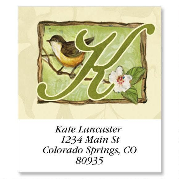 Script Alphabet Select Address Labels