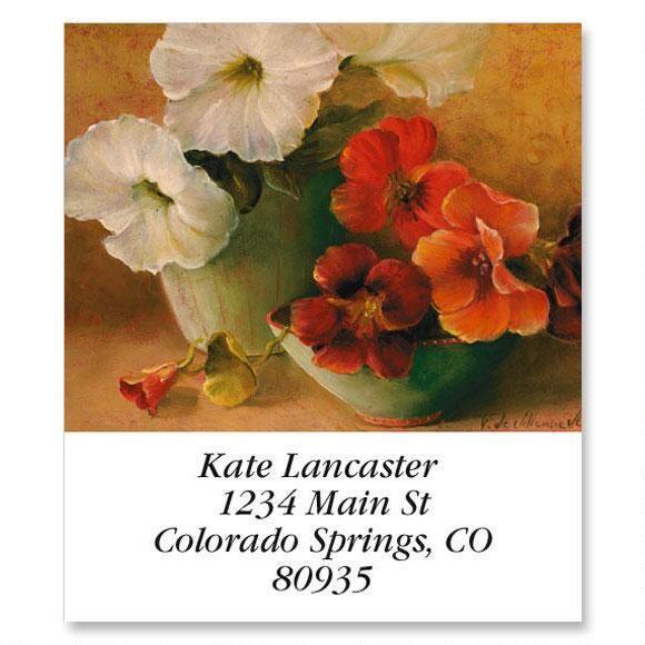 Floral Still Life Select Return Address Labels  (6 Designs)