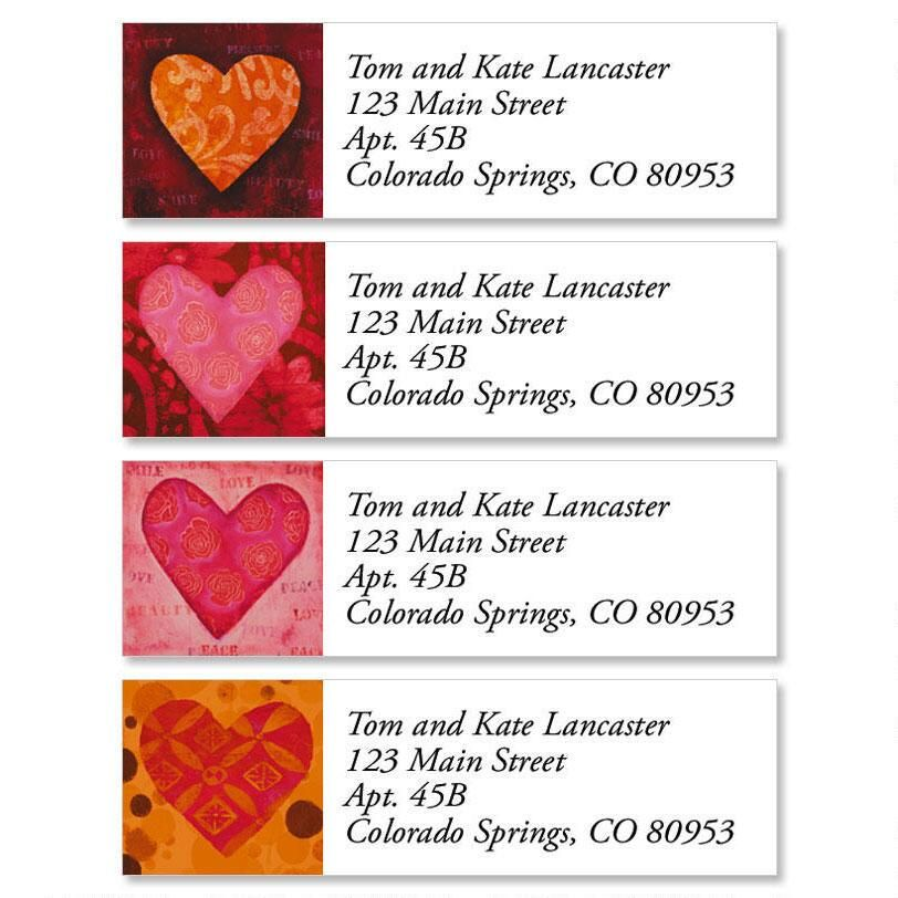 Heart Classic Return Address Labels (4 Designs)