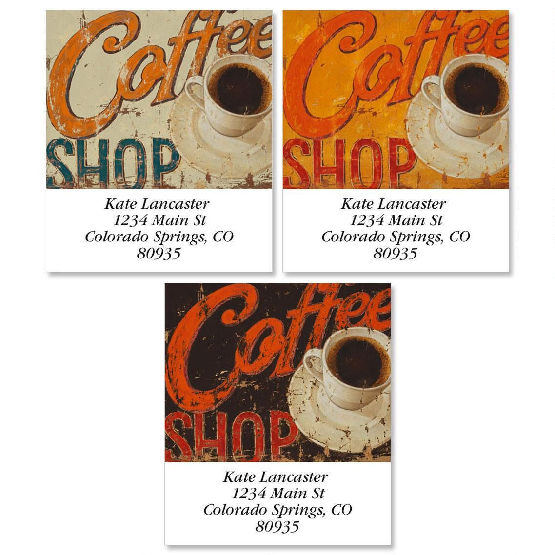 Coffee Shop Select Return Address Labels  (3 Designs)