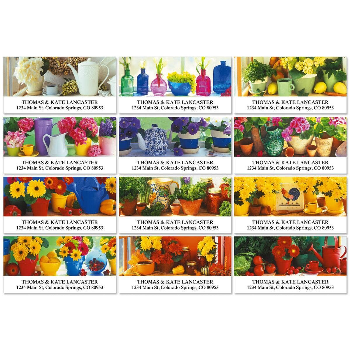 Kitchen Garden Deluxe Return Address Labels  (12 Designs)