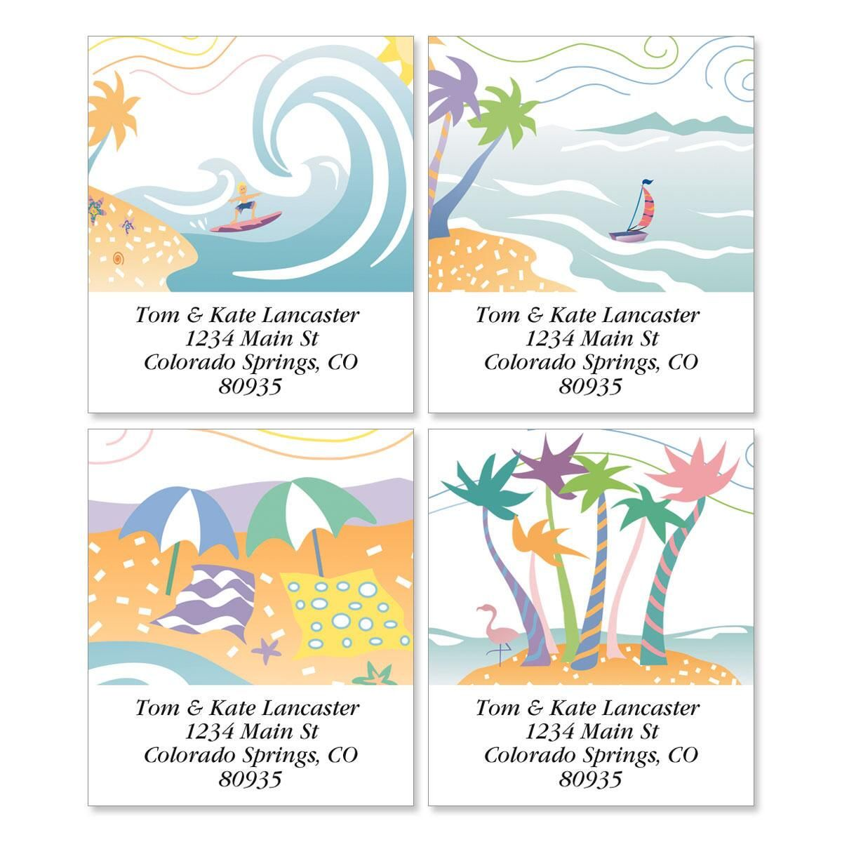 Tropical Moods Select Address Labels  (4 Designs)