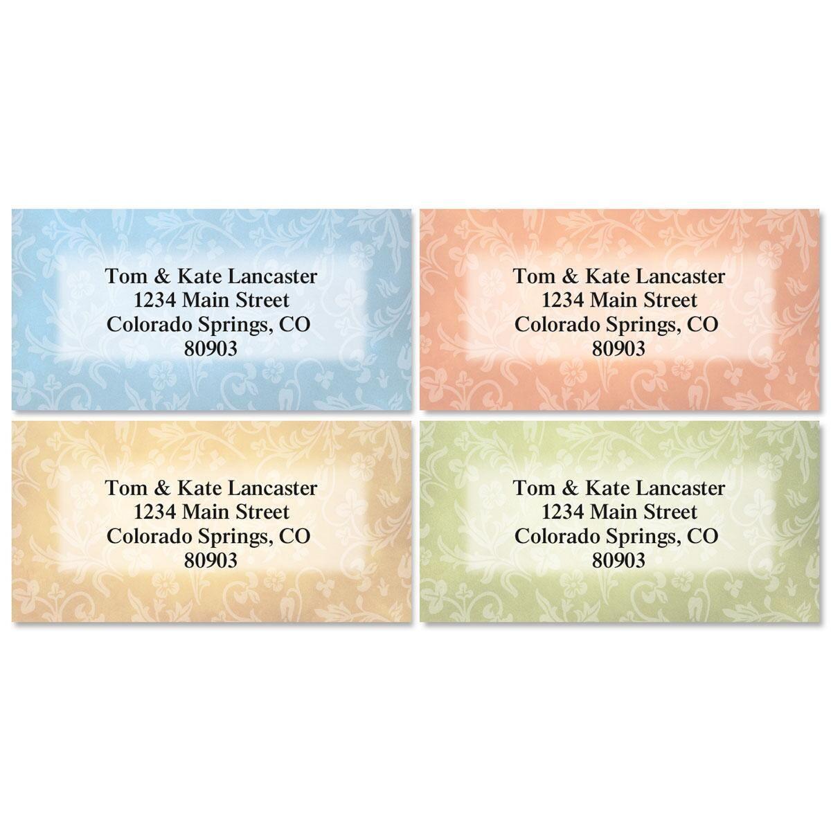 Fresco Border Address Labels  (4 Designs)