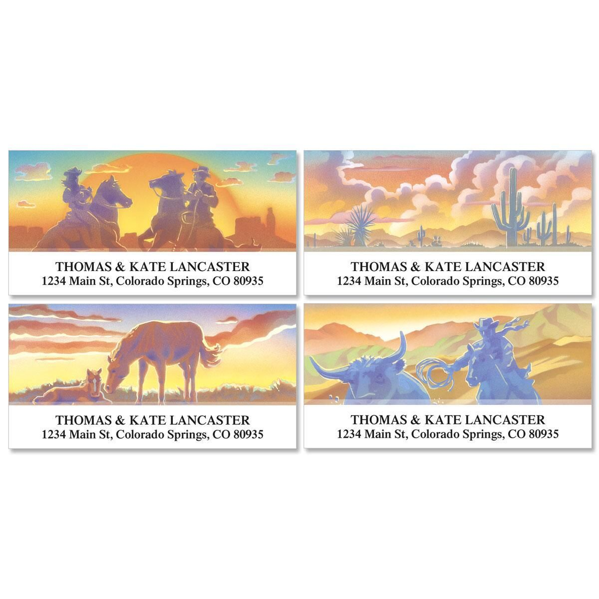 Western Country Deluxe Return Address Labels  (4 Designs)
