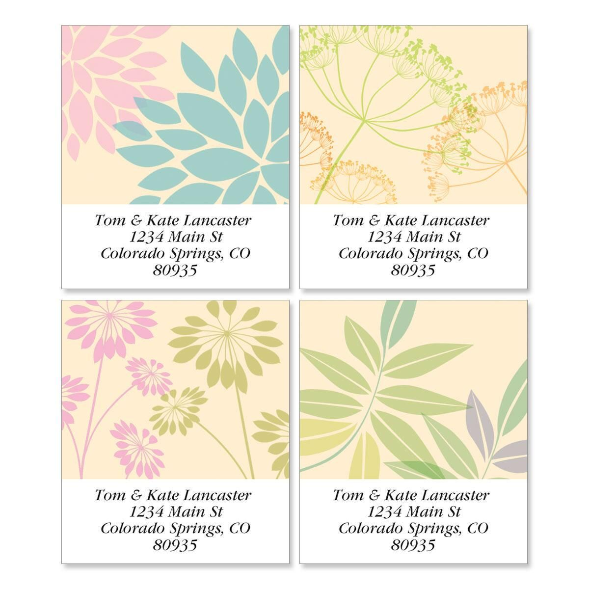 Bella Silhouette Select Return Address Labels  (4 Designs)