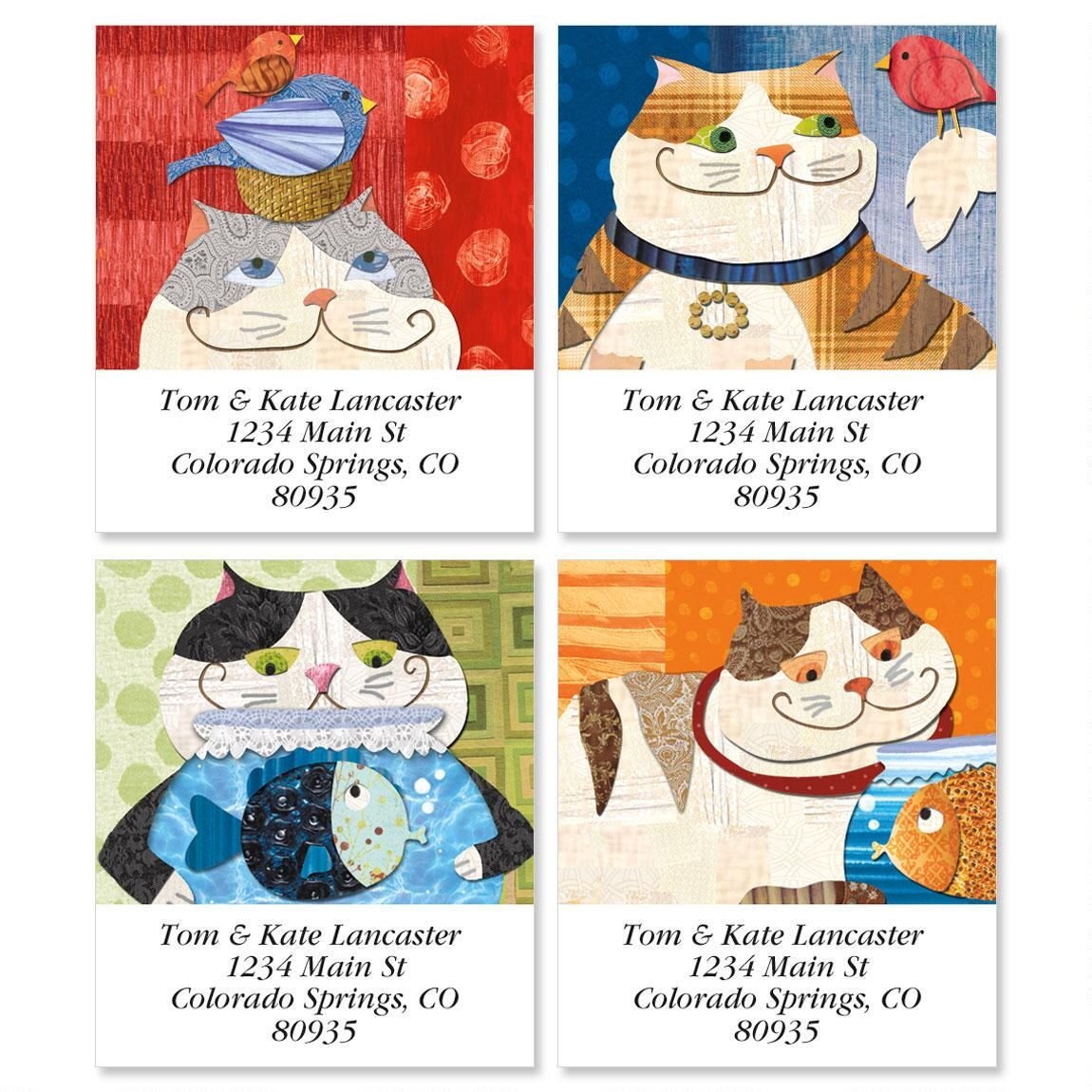 Fat Cats Select Return Address Labels  (4 Designs)