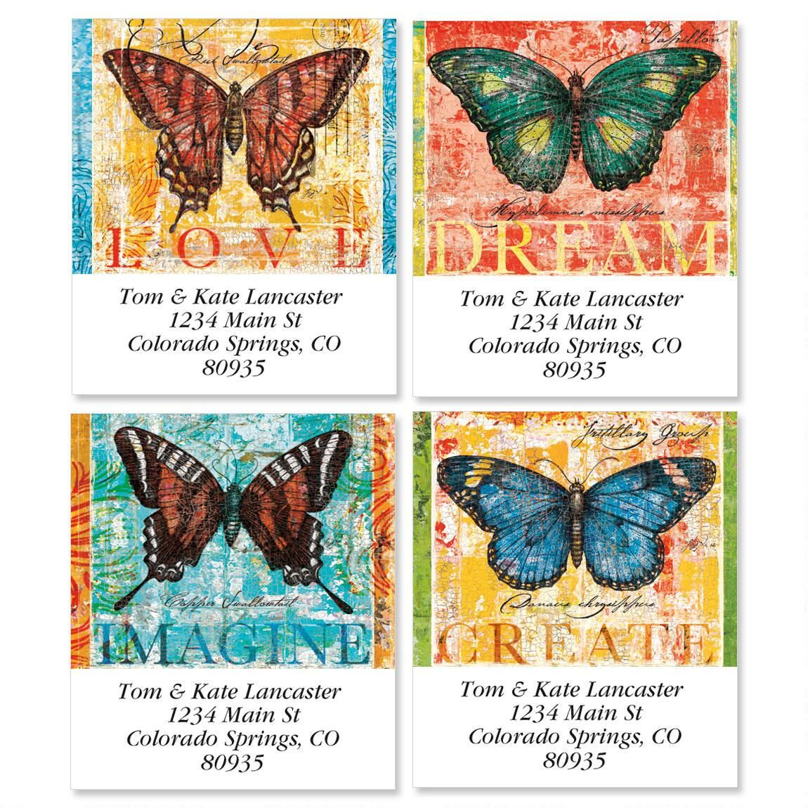 Transformations Bright Select Return Address Labels  (4 Designs)