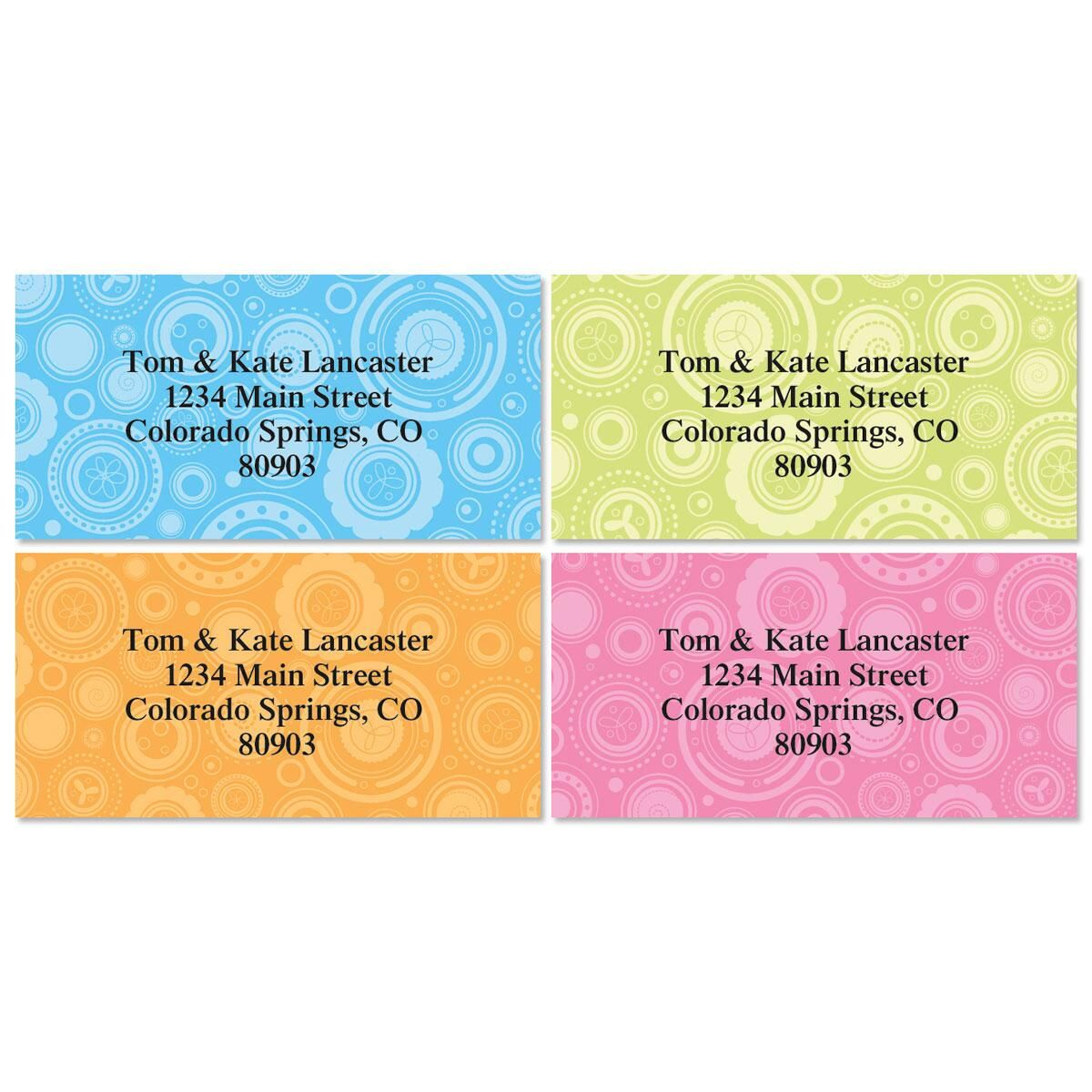 Ultra Chic Border Return Address Labels  (4 Designs)