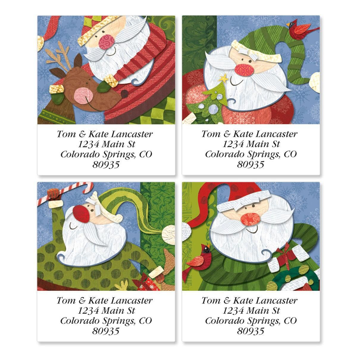 Santa Flurries Select Return Address Labels  (4 Designs)