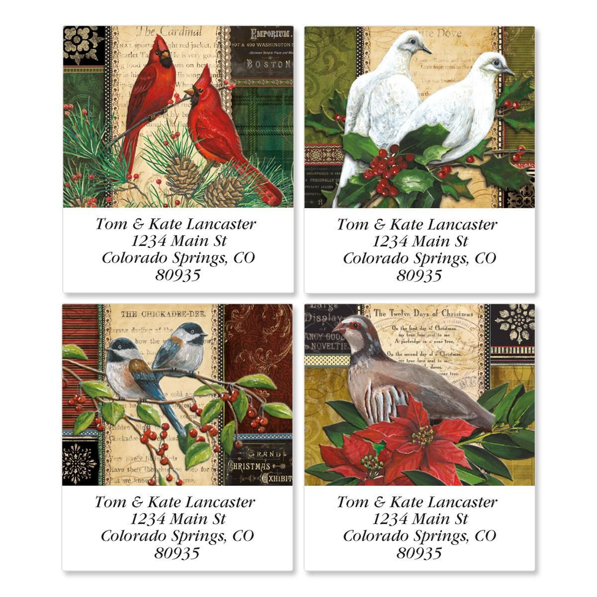 Winter Birds Select Return Address Labels  (4 Designs)