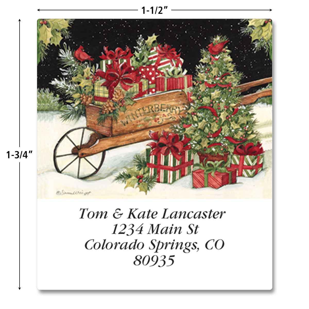 Winterberry Select Return Address Labels  (3 Designs)