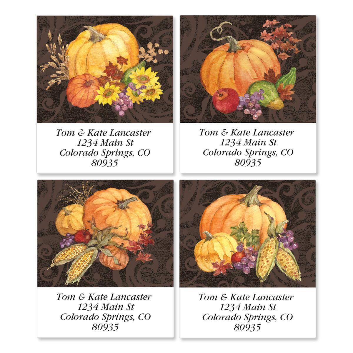 Bountiful Harvest Select Return Address Labels  (4 Designs)