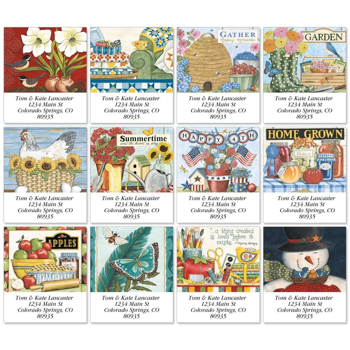 Happy Gathering Select Return Address Labels  (12 Designs)