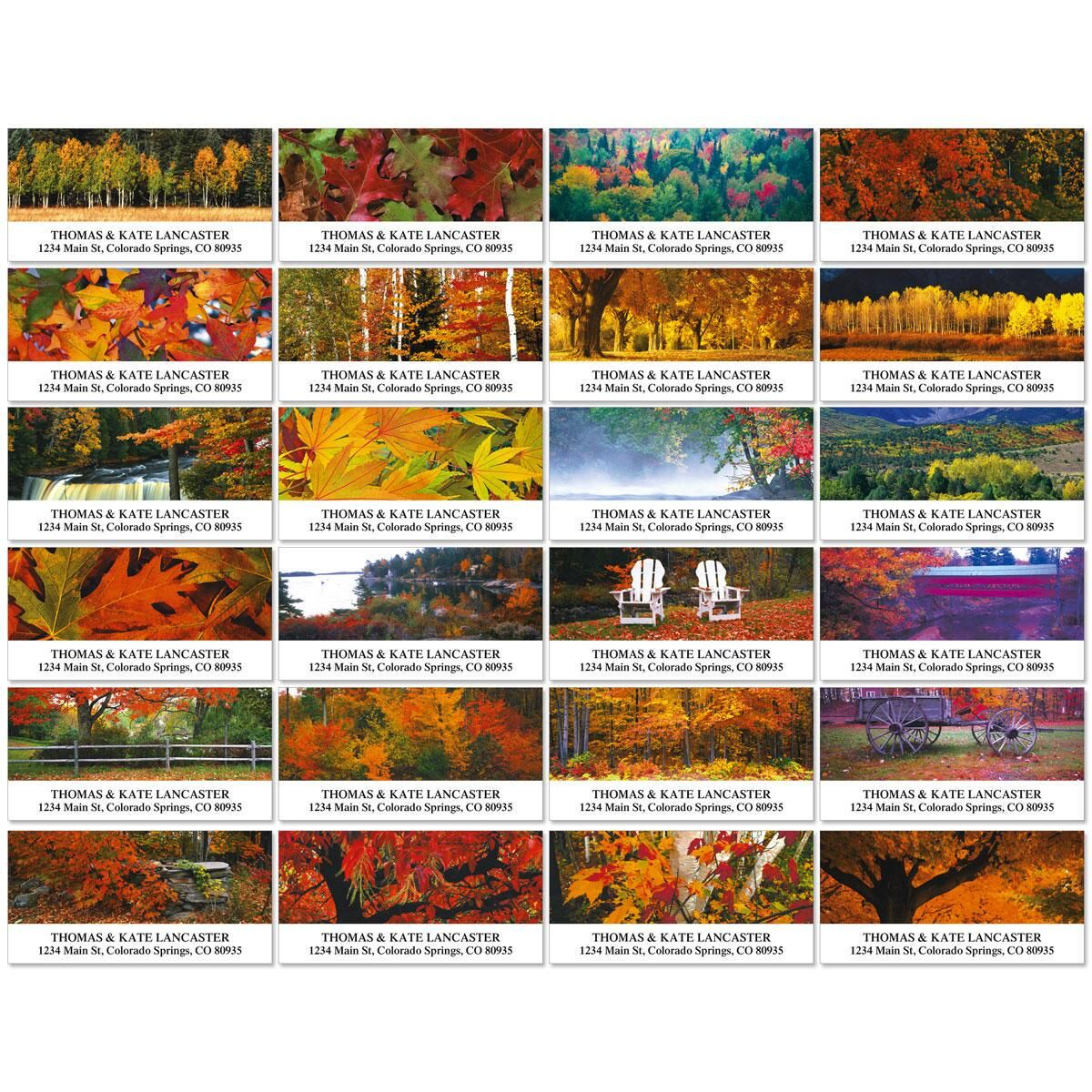 Autumn Colors Deluxe Return Address Labels  (24 Designs)