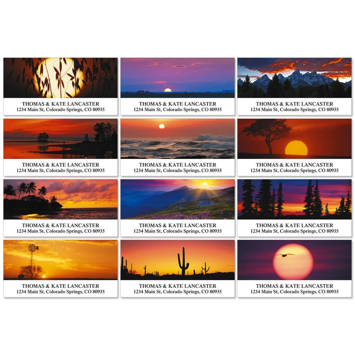 Sunset Sublime Deluxe Address Labels  (12 Designs)