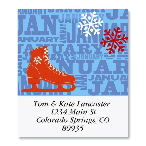 Graphic Style Select Address Labels  (12 Monthly Designs)