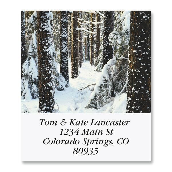 In The Trees Select Return Address Labels  (12 Designs)