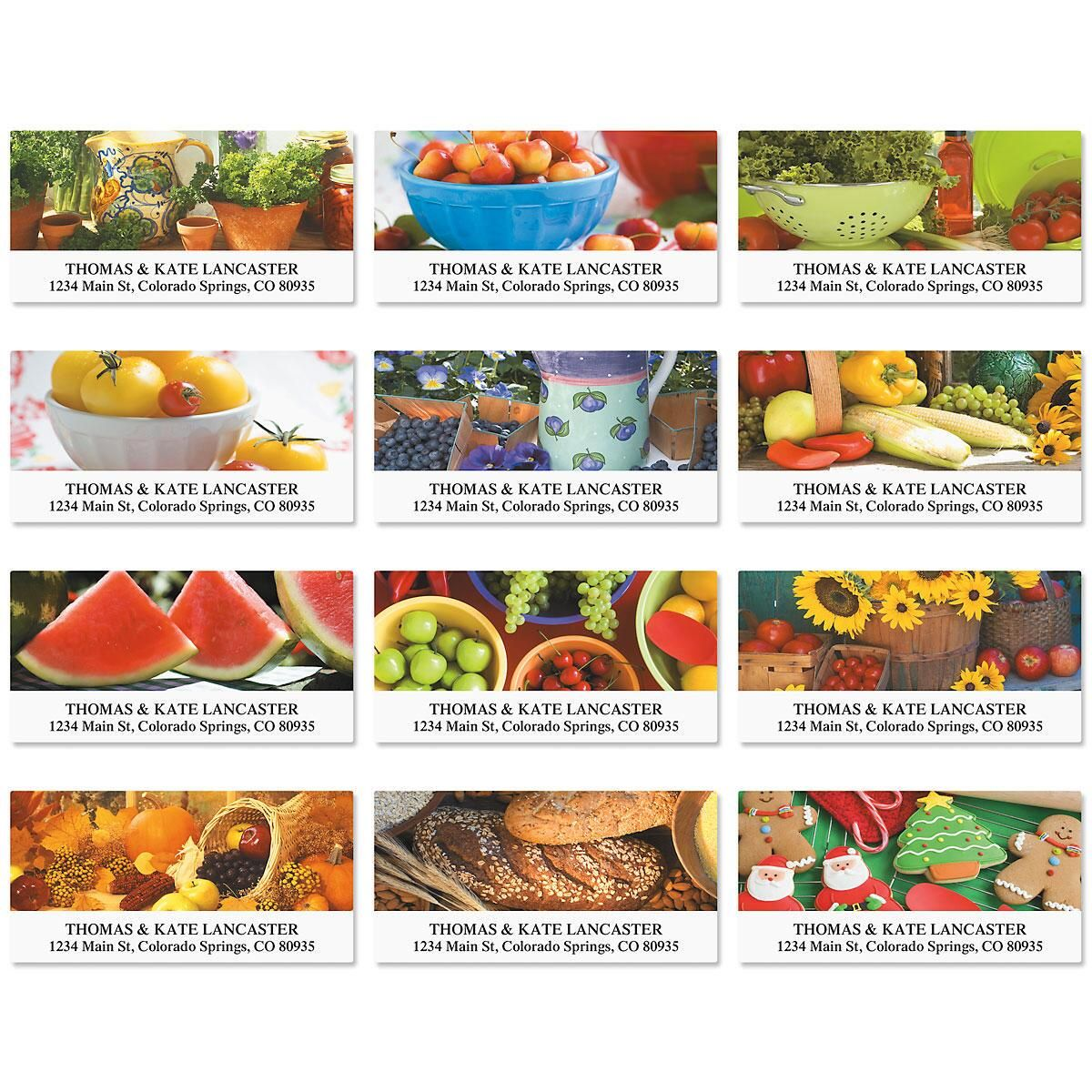 In The Kitchen Deluxe Address Labels  (12 Designs)