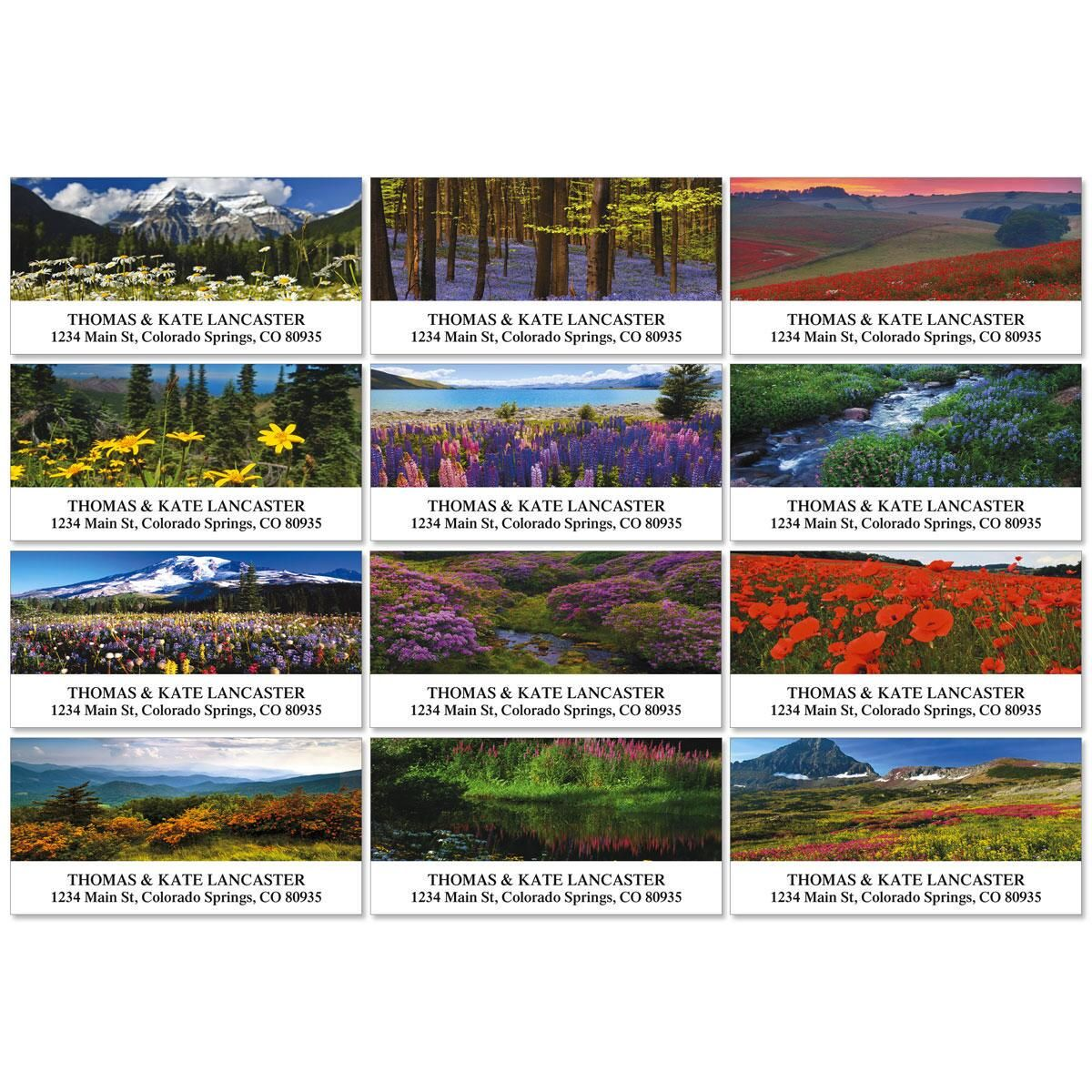 Wildflower Escape Deluxe Return Address Labels Colorful