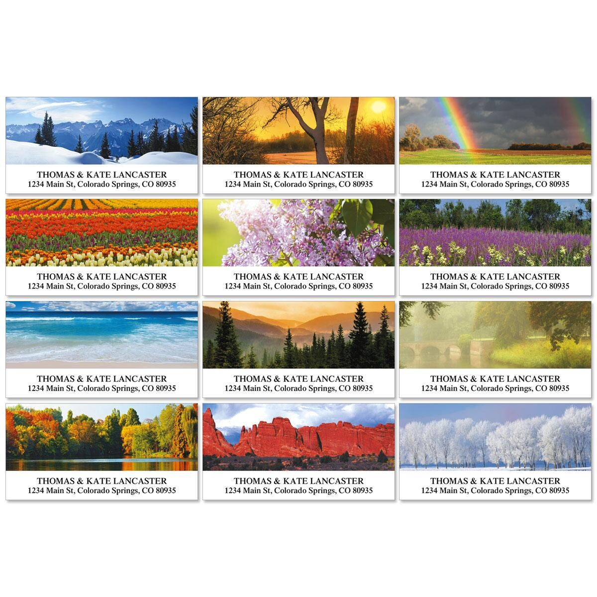 Nature's Art Deluxe Return Address Labels  (12 Designs)