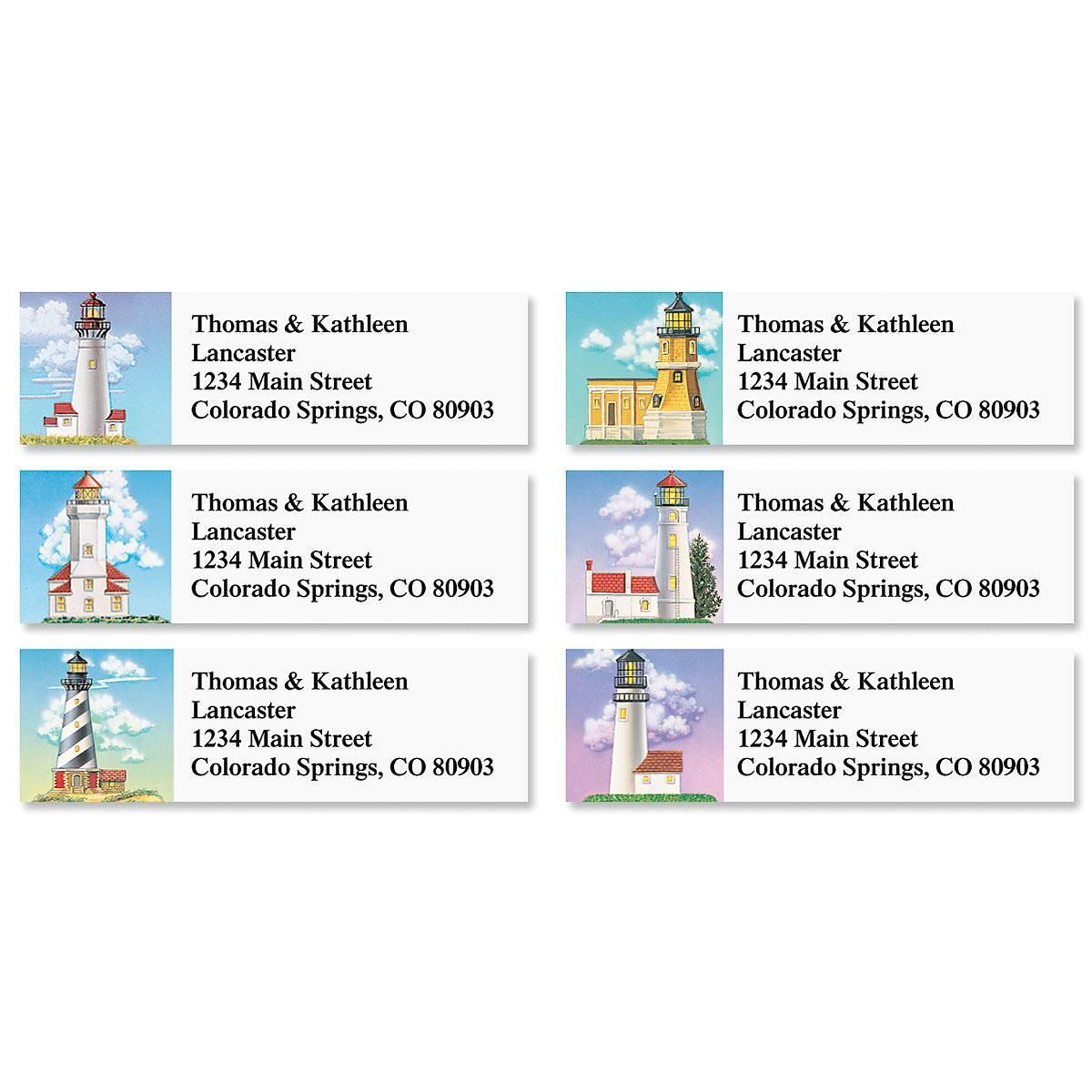 Lighthouses Classic Return Address Labels  (6 Designs)