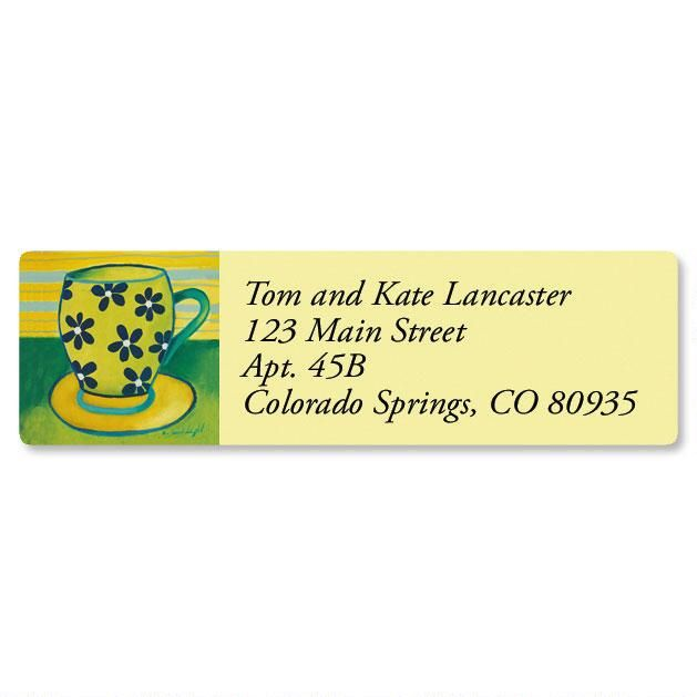 Coffee Break Classic Return Address Labels  (6 Designs)