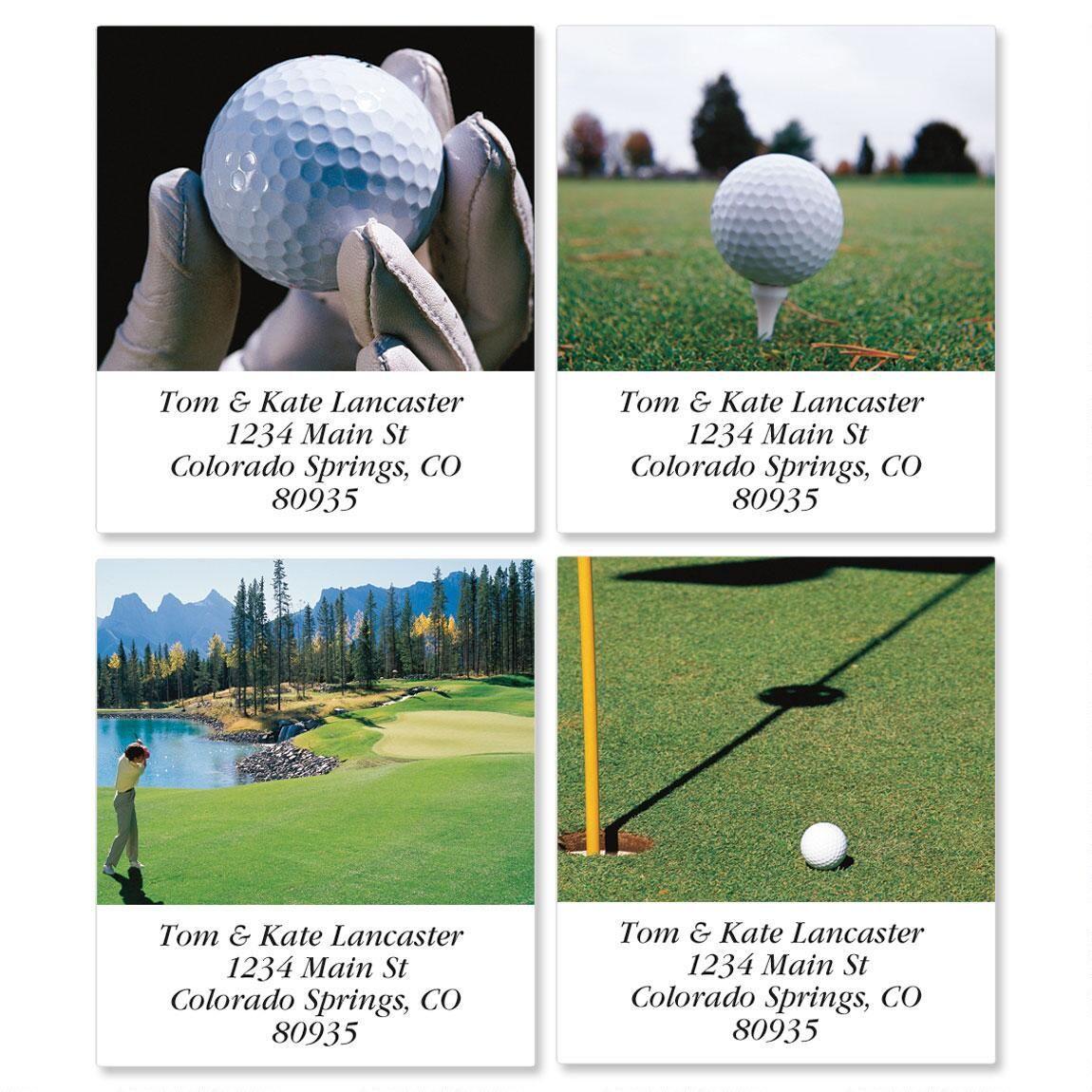 Golf Spectacular Select Return Address Labels  (4 Designs)