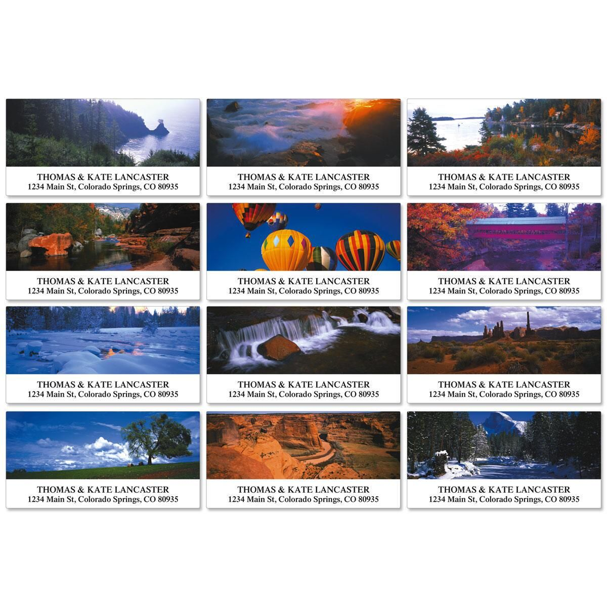 Panoramic View Deluxe Return Address Labels  (12 Designs)