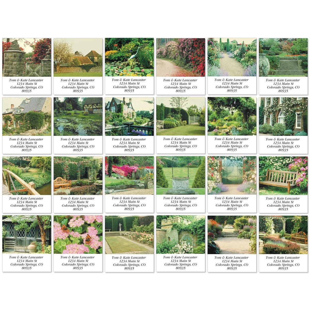 English Country Gardens Select Return Address Labels  (24 Designs)