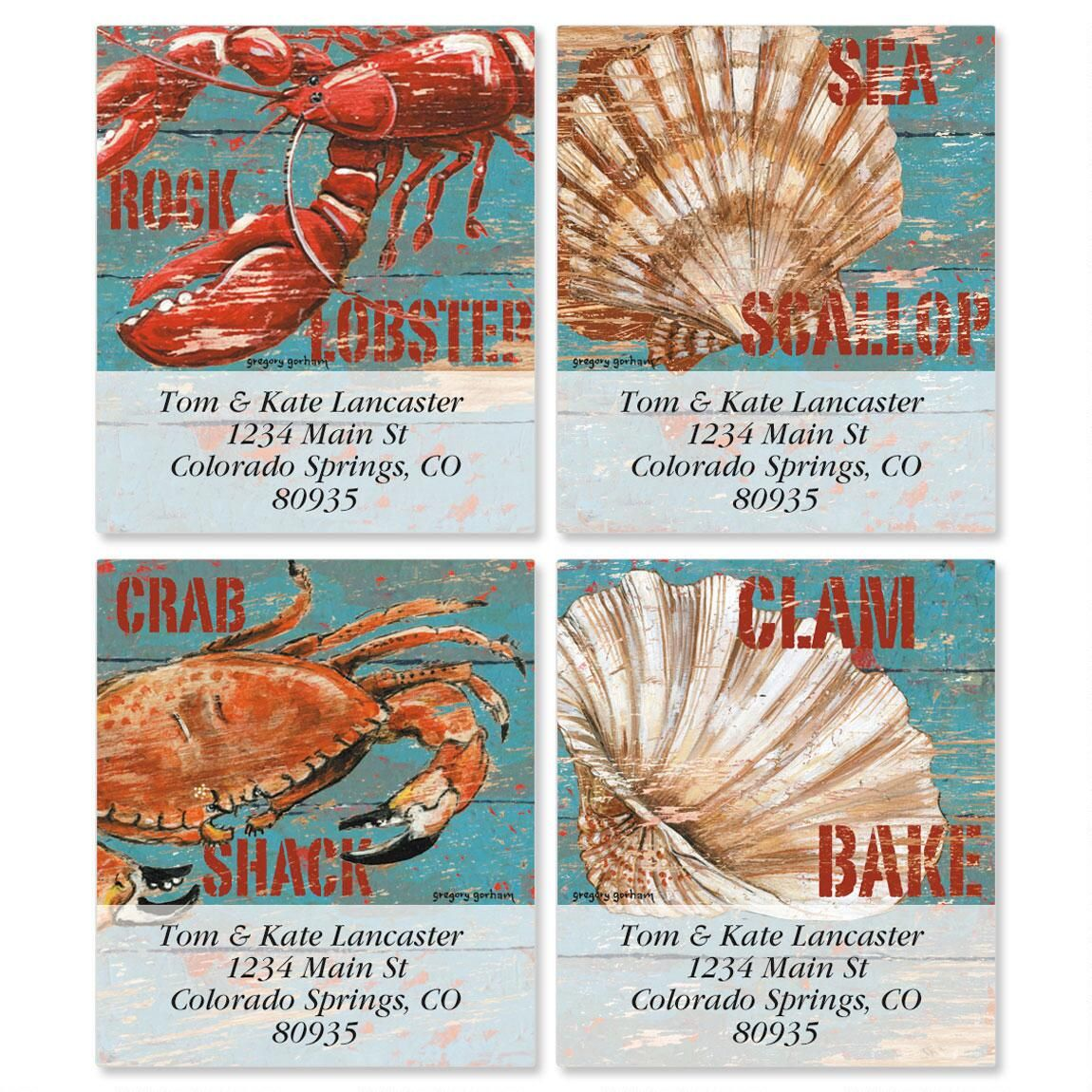 Seaside Signs Select Address Labels  (4 Designs)