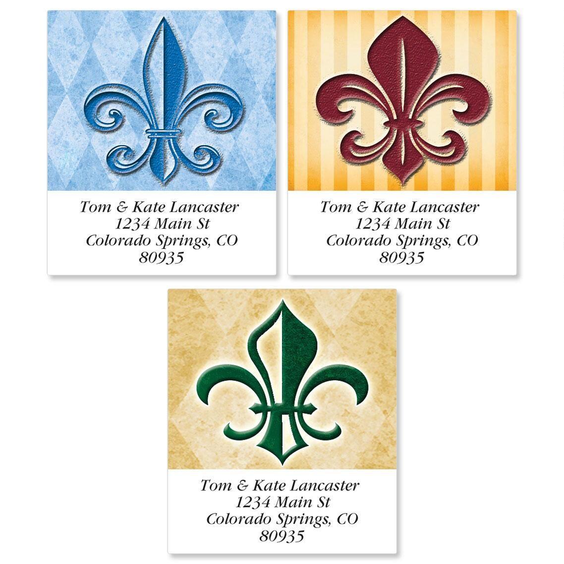 Fleur De Lis Select Address Labels  (3 Designs)