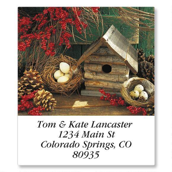 Seasonal Birdhouses Select Return Address Labels  (12 Designs)