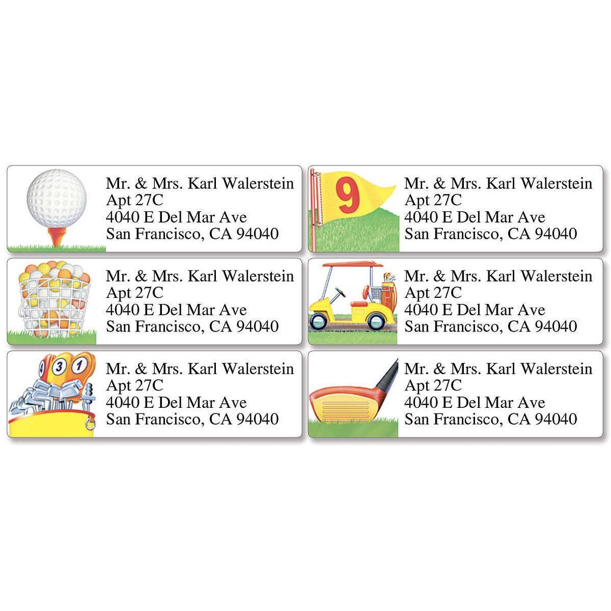 FORE!  Classic Return Address Labels  (6 Designs)