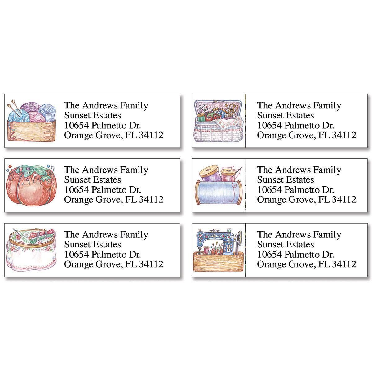 Needlecraft Classic Return Address Labels  (6 Designs)