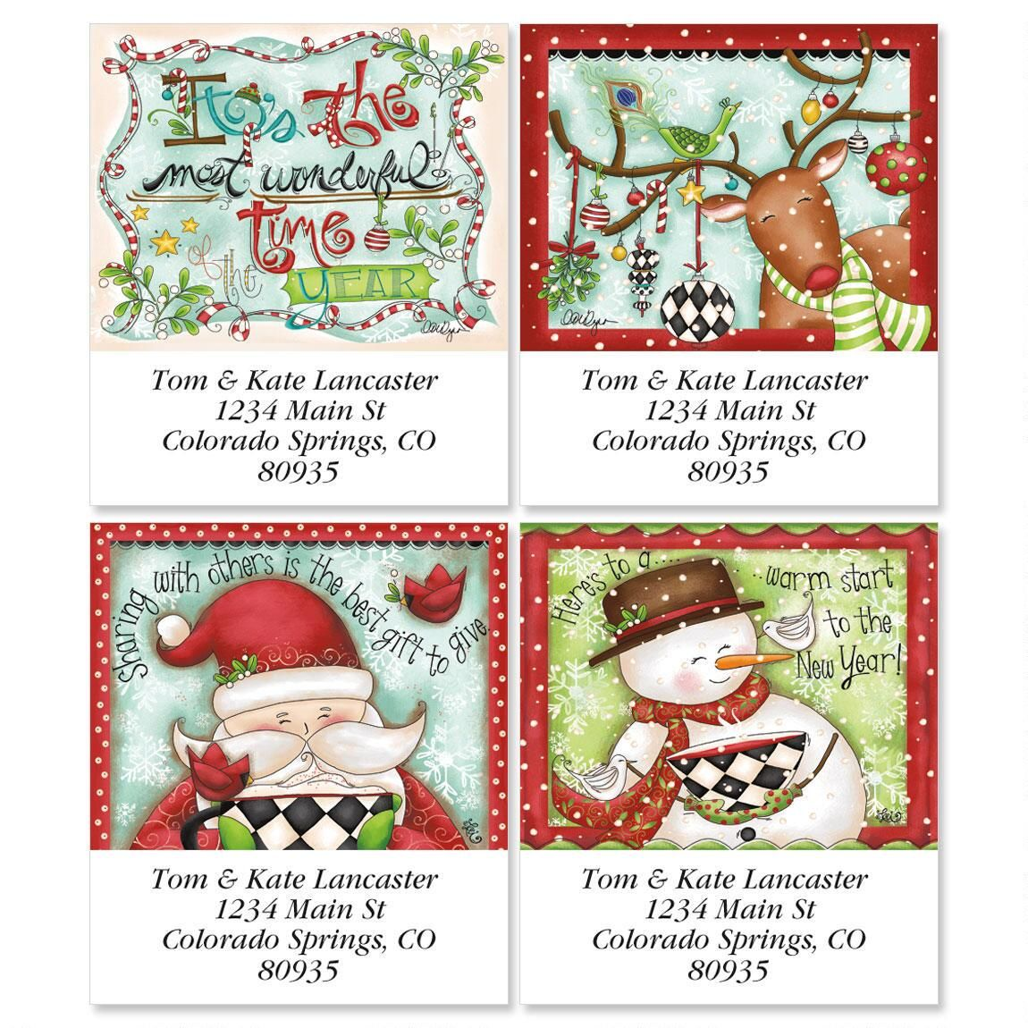 Reindeer Dress-Up Select Address Labels  (4 Designs)