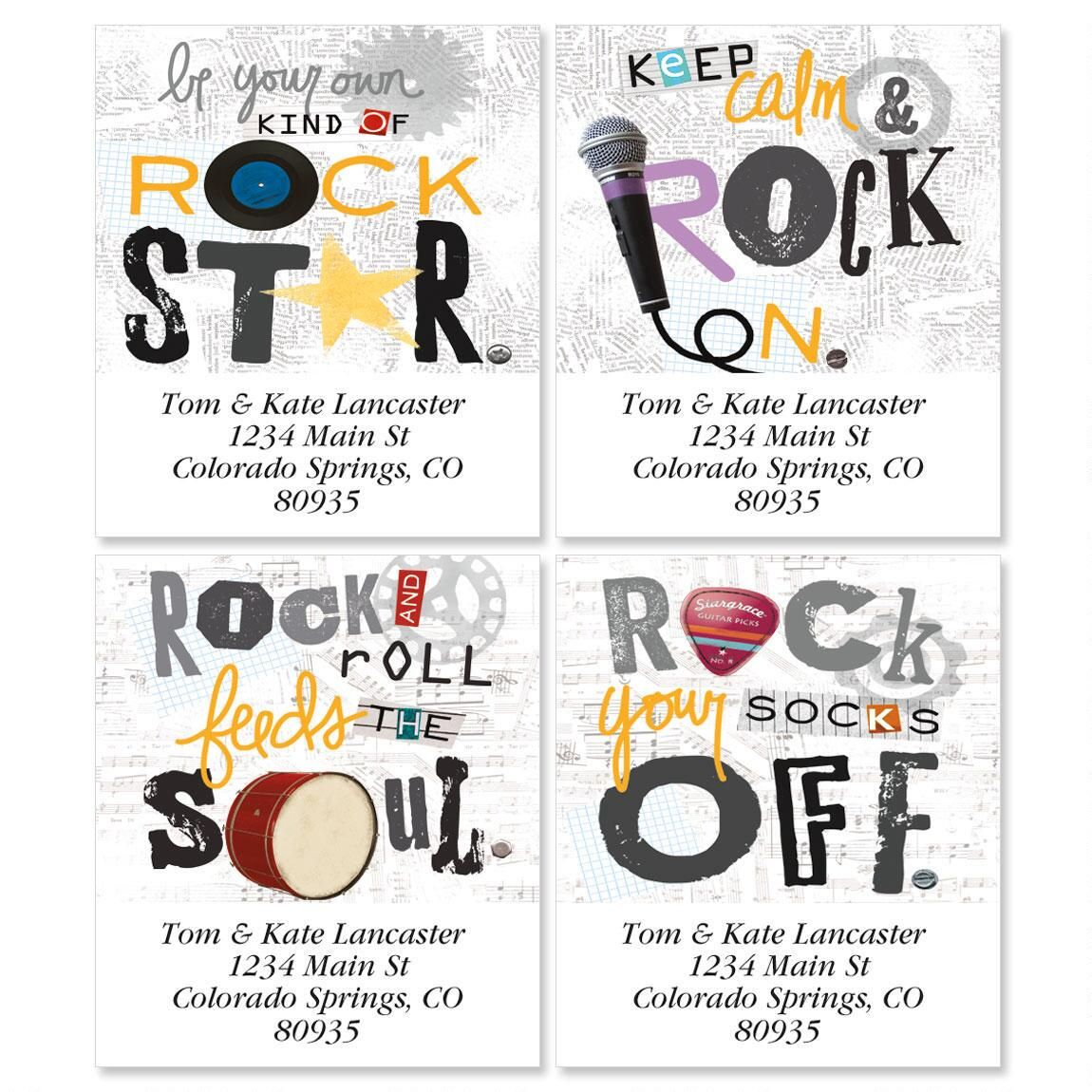 Rock Star Select Address Labels  (4 Designs)