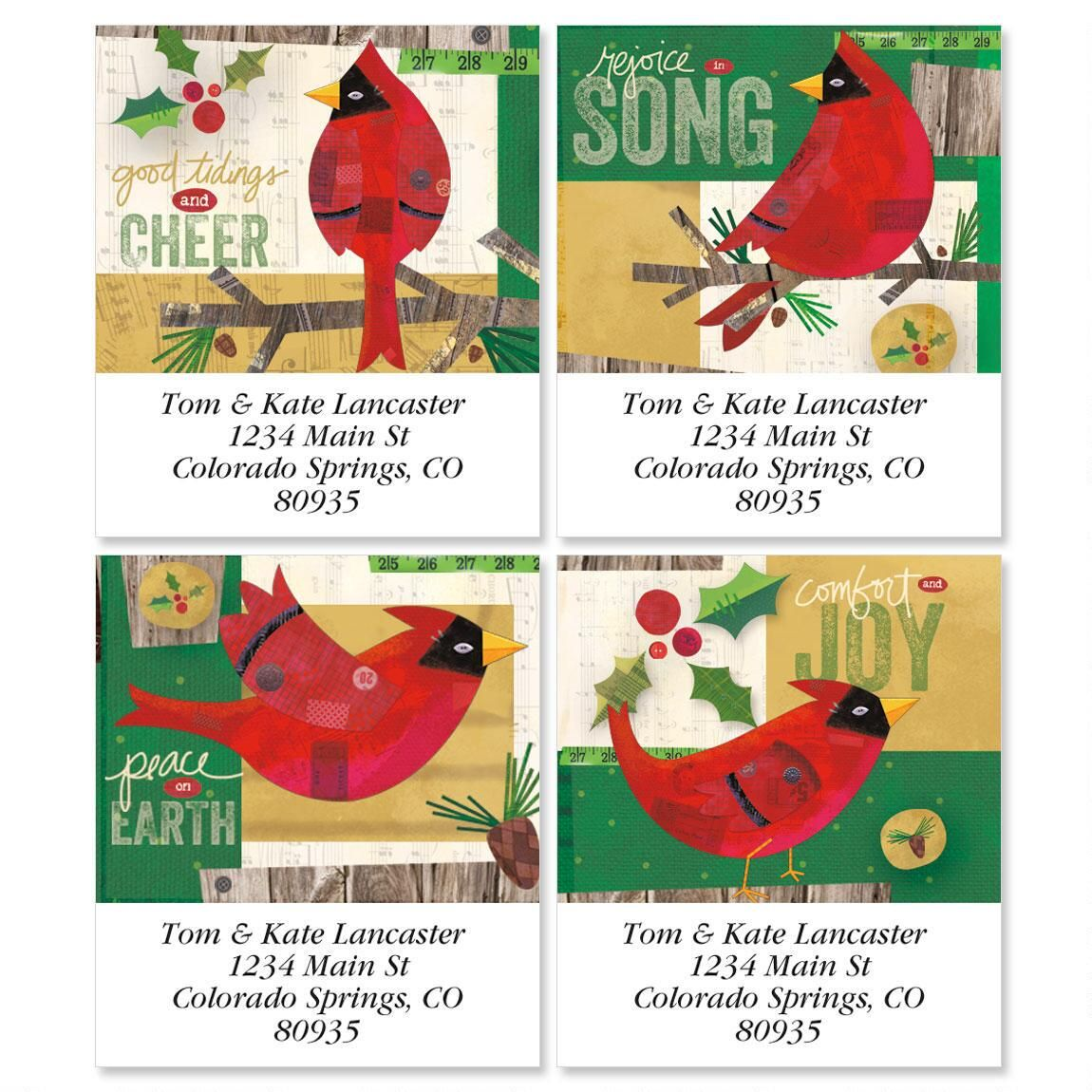 Cardinals Select Address Labels  (4 Designs)