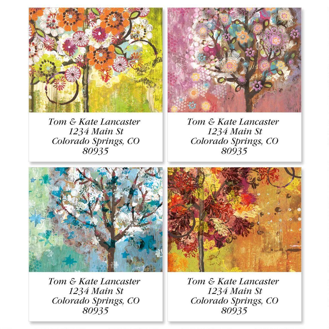 Siebert's Seasons Select Return Address Labels  (4 Designs)