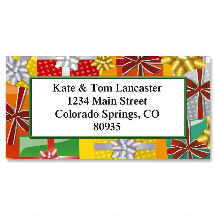 Holiday Bright Packages Border Return Address Labels