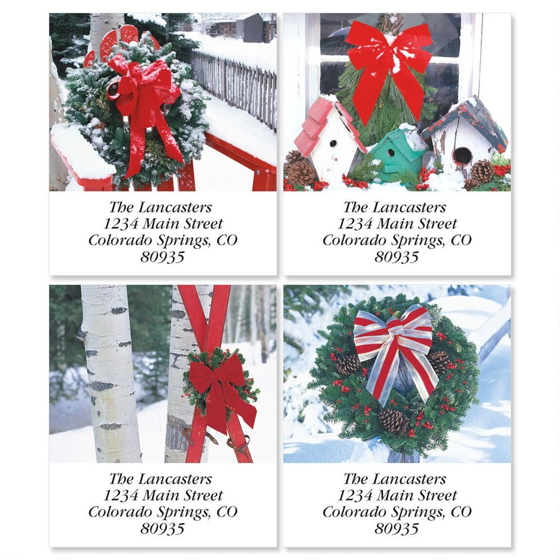 Winter Scene Select Address Labels  (4 Designs)