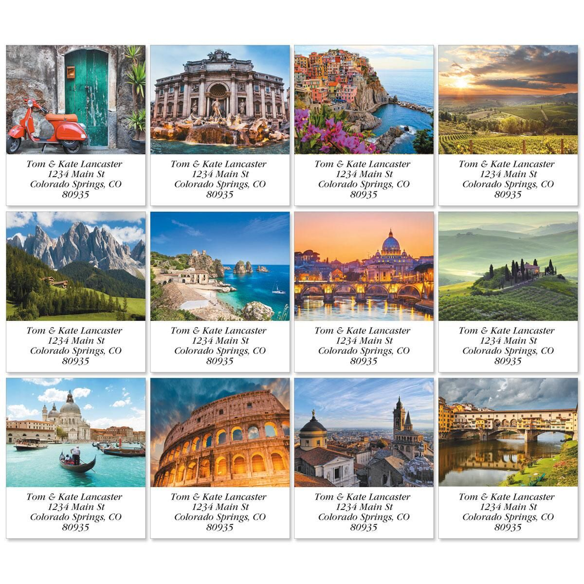 Italia Select Return Address Labels  (12 Designs)