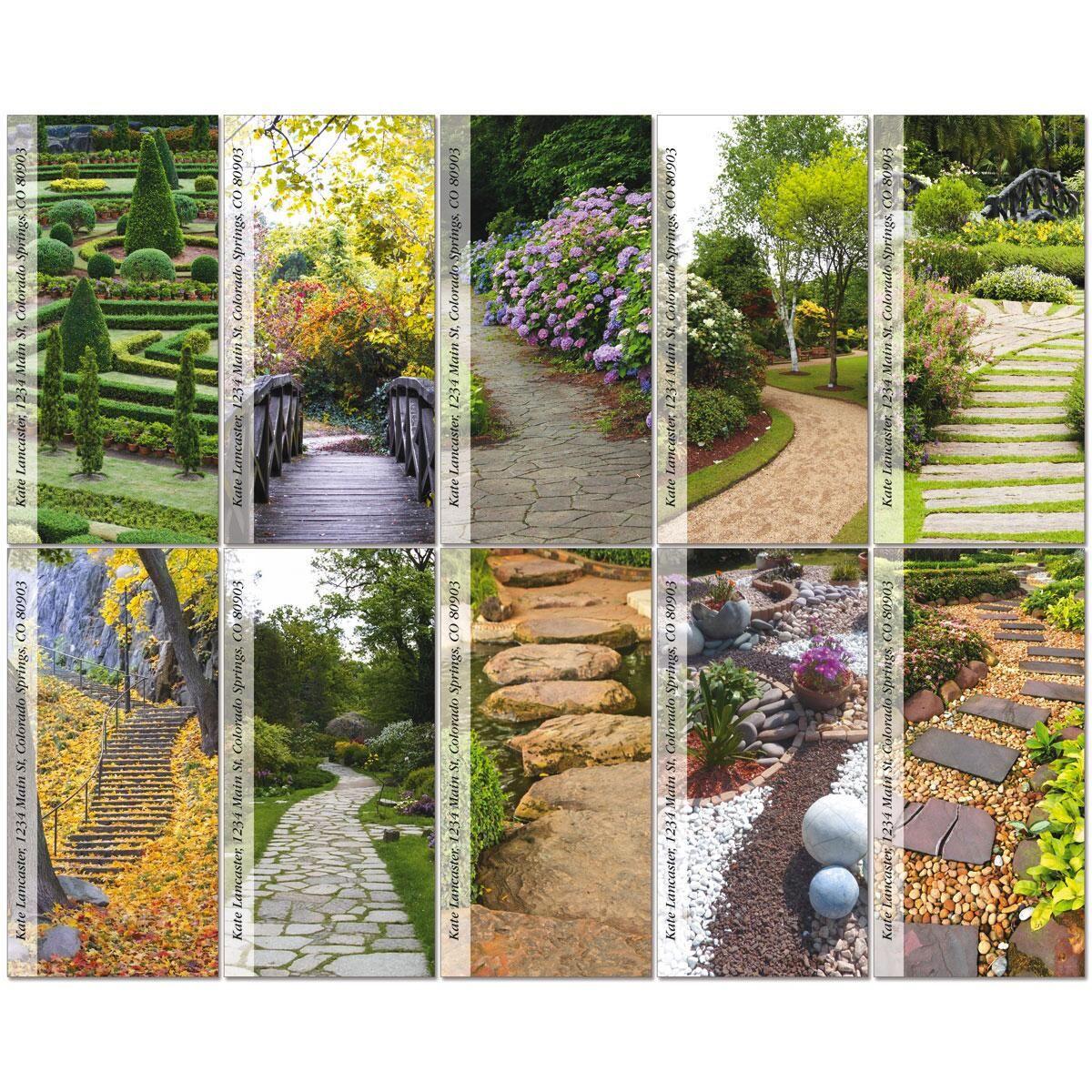 Garden Path Oversized Return Address Labels  (10 Designs)