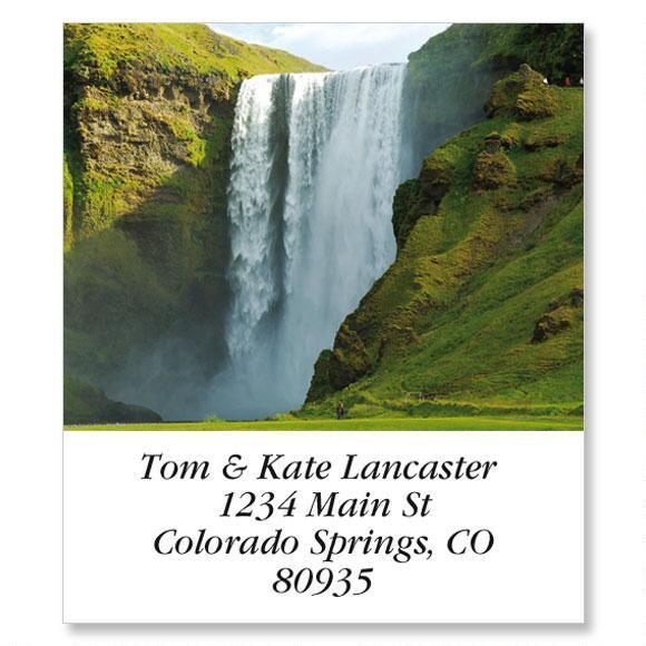 Enchanting Waterfalls  Select Address Labels  (24 Designs)